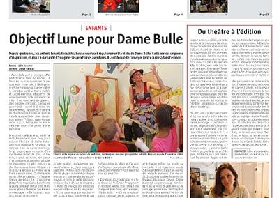 gaelle fratelli - dame bulle - journal Alsace -Mulhouse -linattendue