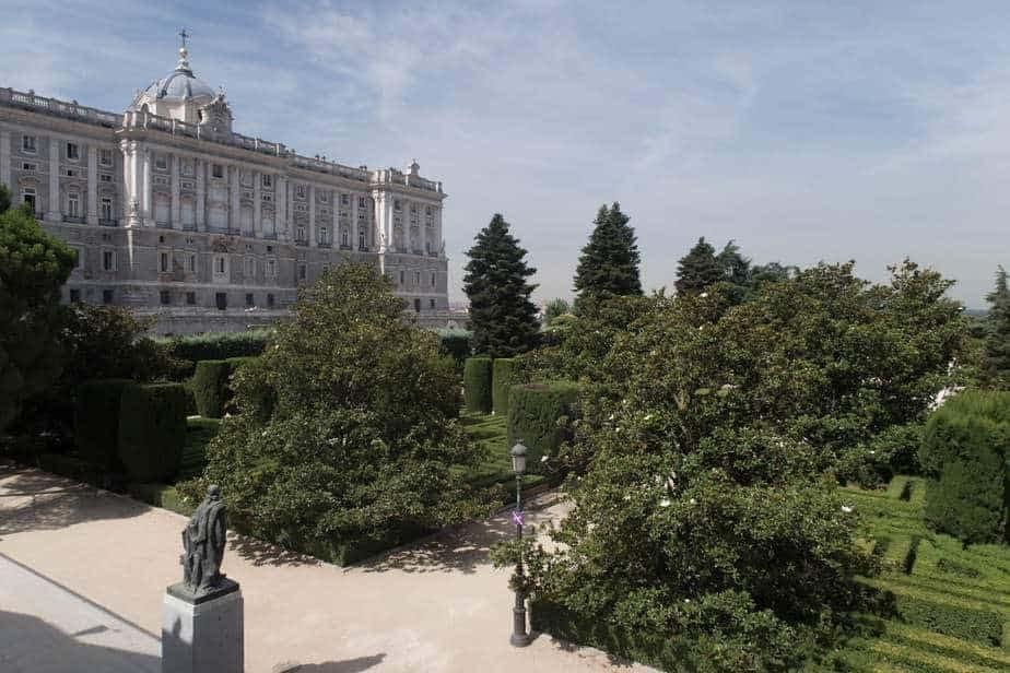 Les jardins Sabatini à Madrid