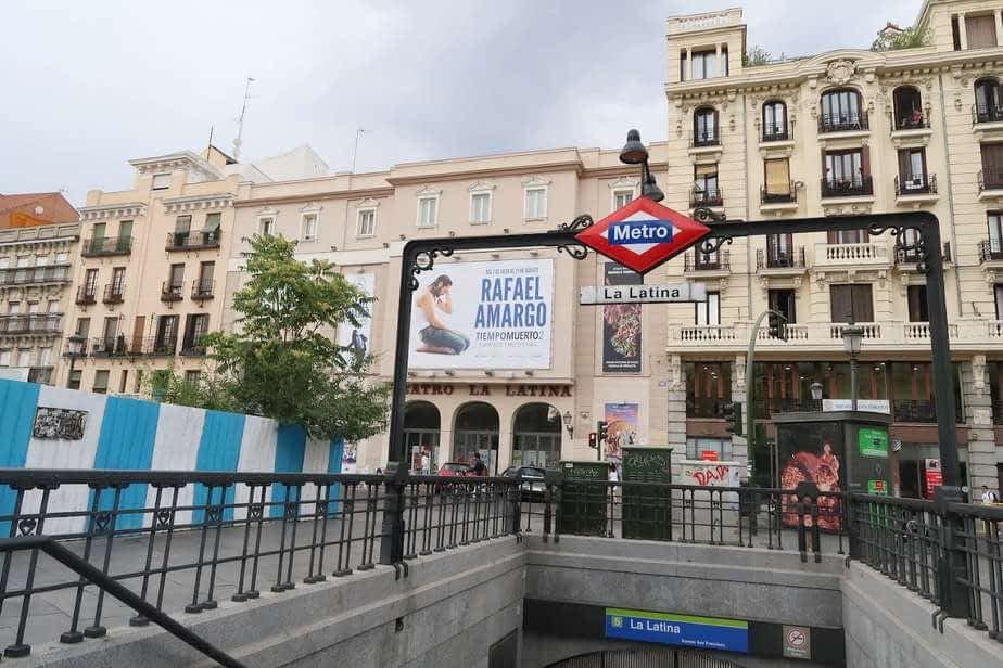 Metro Latina plaza de la Cebada