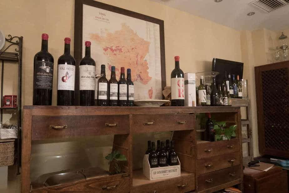 Bouteilles de vin naturel