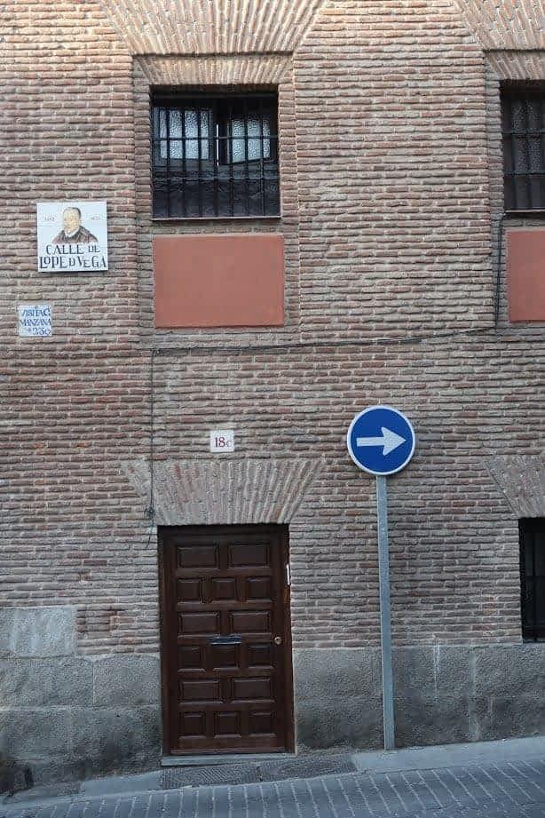 La rue Lope de Vega, las Letras